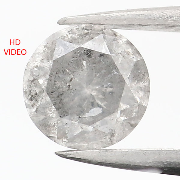 0.80 CT Natural Loose Diamond Round Gray Color 5.65 MM L9069