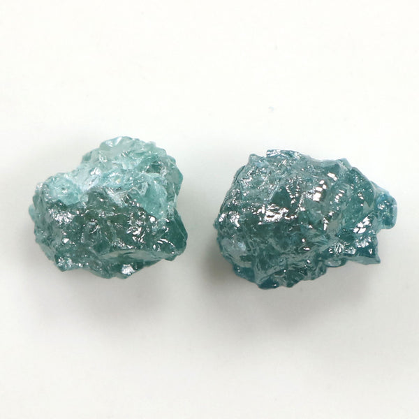 2.93 CT Natural Loose Diamond Rough Blue Color 2 Pcs L9348