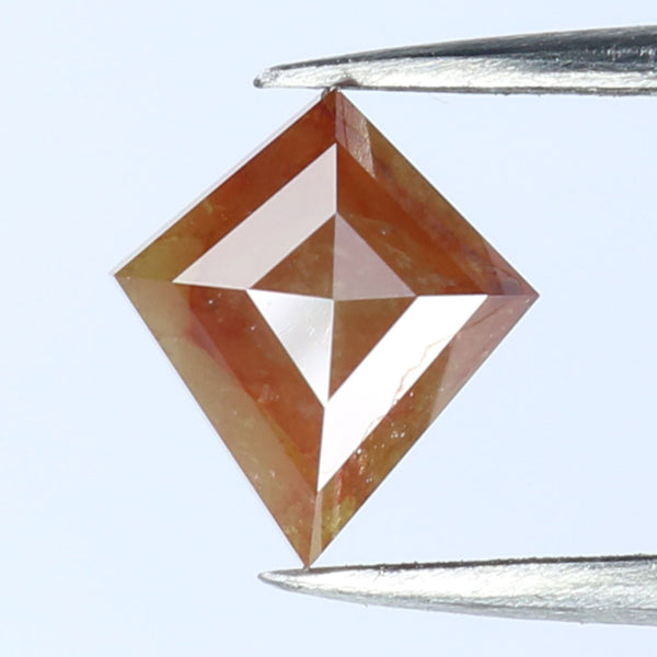 1.29 CT Natural Loose Diamond Kite Brown Color I3 Clarity 7.93 MM L9004