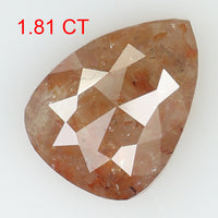 1.81 Ct Natural Loose Diamond Pear Brown Color I3 Clarity 9.50 MM L8241