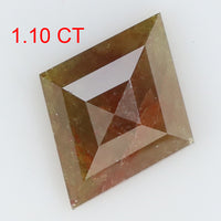 1.10 Ct Natural Loose Diamond Kite Grey Brown Color I3 Clarity 9.80 MM L8105