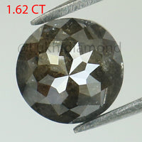 1.62 Ct Natural Loose Diamond Round Rose Cut Gray Color I3 Clarity 6.60 MM L8391