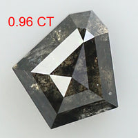 0.96 Ct Natural Loose Diamond Shield Black Grey Color I3 Clarity 7.15 MM KDK2040
