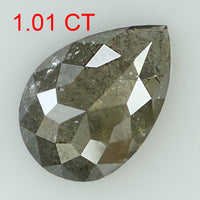 1.01 Ct Natural Loose Diamond Pear Grey Color I3 Clarity 9.20 MM L8140