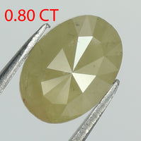 0.80 Ct Natural Loose Diamond Oval Yellow Color I3 Clarity 7.00 MM L8014