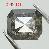 0.62 Ct Natural Loose Diamond Emerald Grey Color I3 Clarity 5.50 MM GRL8192
