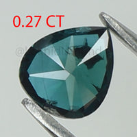 0.27 Ct Natural Loose Diamond Pear Blue Color I1 Clarity 4.90 MM L8523