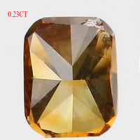 0.23 Ct Natural Loose Diamond Cushion Yellowish Brown Color SI1 Clarity 3.75 MM L8610