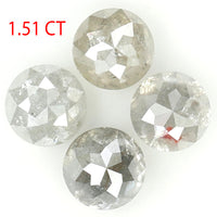 1.51 Ct Natural Loose Diamond, Rose Cut Diamond, Grey Rose Cut, Round Cut Diamond, Rustic Diamond, Round Shape Diamond L9983