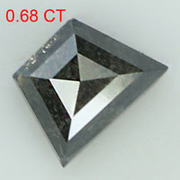 0.68 Ct Natural Loose Diamond Geometric Black Grey Color I3 Clarity 5.85 MM L8188