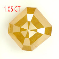 1.05 CT Natural Loose Diamond Emerald Yellow Color 5.60 MM L9334