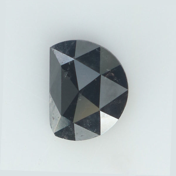 0.46 Ct Natural Loose Diamond Half Moon Black Color I3 Clarity 5.95 MM L8892