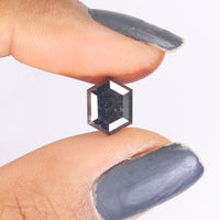 1.97 Ct Natural Loose Diamond Hexagon Black Color 9.24 MM L9328