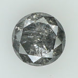 0.49 Ct Natural Loose Diamond Round Black Grey Salt And Pepper Color I3 Clarity 4.70 MM L8067