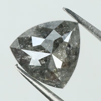 1.67 Ct Natural Loose Diamond Triangle Black Grey Salt And Pepper Color I3 Clarity 7.30 MM L8124