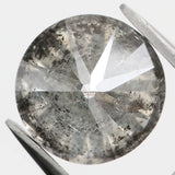 1.81 Ct Natural Loose Diamond Round Black Grey Salt And Pepper Color I3 Clarity 7.30 MM KDL8744
