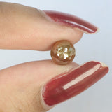 1.57 Ct Natural Loose Diamond Round Rose Cut Yellow Brown Color I3 Clarity 6.60 MM L8896