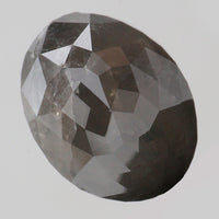 4.43 Ct Natural Loose Diamond Oval Grey Color I3 Clarity 10.50 MM KR2020
