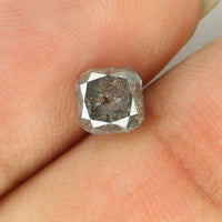 1.00 Ct Natural Loose Diamond Cushion Grey Salt And Pepper Color I3 Clarity 5.30 MM KDL8318