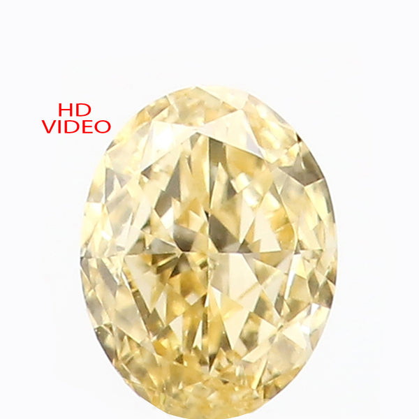 0.21 Ct Natural Loose Diamond Oval Yellow Color VS Clarity 4.65 MM KR2142