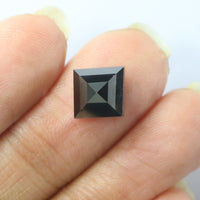 IGI CERTIFIED 3.07 Ct Natural Loose Diamond Princess Cut Fancy Black 7.50 MM KDL8662