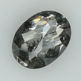0.41 Ct Natural Loose Diamond Oval Black Grey Salt And Pepper Color I3 Clarity 5.30 MM GRK2010