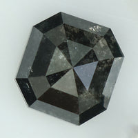2.68 Ct Natural Loose Diamond Radiant Black Grey Color I3 Clarity 8.00 MM kdL8258
