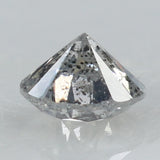 0.29 Ct Natural Loose Diamond Round Black Grey Salt And Pepper Color I3 Clarity 4.10 MM KR2003