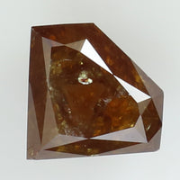 1.22 Ct Natural Loose Diamond Shield Coffee Color I3 Clarity 7.80 MM L8134
