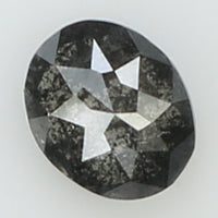 0.21 Ct Natural Loose Diamond Oval Black Grey Salt And Pepper Color I3 Clarity 4.20 MM L8179