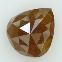 1.30 Ct Natural Loose Diamond Pear Yellow Brown Color I3 Clarity 7.85 MM L8239