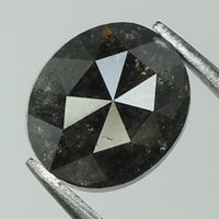 1.19 Ct Natural Loose Diamond Oval Black Grey Color I3 Clarity 6.70 MM KR2055