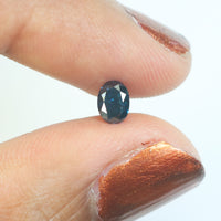 0.47 Ct Natural Loose Diamond Oval Blue Color SI1 Clarity 5.30 MM KR2111