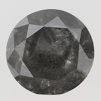 1.73 Ct Natural Loose Diamond Round Black Grey Color I3 Clarity 7.20 MM KDL8220