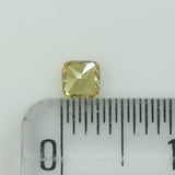 0.14 Ct Natural Loose Diamond Cushion Yellow Color SI2 Clarity 3.20 MM L8619