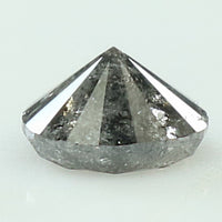 0.51 Ct Natural Loose Diamond Round Black Grey Salt And Pepper Color I3 Clarity 5.00 MM L8244