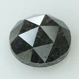 0.94 Ct Natural Loose Diamond Round Rose Cut Black Grey Color I3 Clarity 6.00 MM KR2032