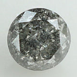 0.62 Ct Natural Loose Diamond Round Black Grey Salt And Pepper Color I3 Clarity 4.80 MM L8460