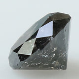 0.97 Ct Natural Loose Diamond Round Black Salt And Pepper Color I3 Clarity 6.00 MM KR2068