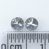 0.39 CT Natural Loose Diamond Round Black Gray Salt And Pepper Color I3 Clarity 2 Pcs L9073