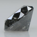 0.71 Ct Natural Loose Diamond Round Black Grey Salt And Pepper Color I3 Clarity 5.50 MM L8334