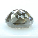 0.86 Ct Natural Loose Diamond Round Rose Cut Black Grey Color I3 Clarity 5.50MM KR2088