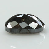 1.20 Ct Natural Loose Diamond Cushion Black Grey Salt And Pepper Color I3 Clarity 6.90 MM KR2011