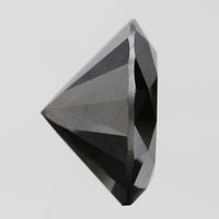6.86 Ct Natural Loose Diamond Round Black Color I3 Clarity 12.25 MM L8155