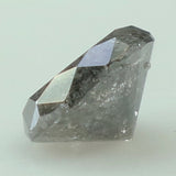 0.51 Ct Natural Loose Diamond Round Black Grey Salt And Pepper Color I3 Clarity 5.00 MM GRL8244