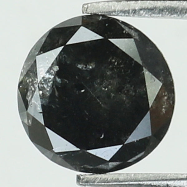 0.72 Ct Natural Loose Diamond Round Black Color I3 Clarity 5.20 MM KR2074