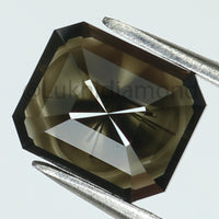 1.63 Ct Natural Loose Diamond Emerald Black Color I3 Clarity 7.80 MM KDL8372