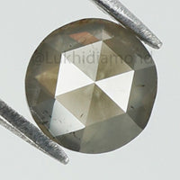 0.65 Ct Natural Loose Diamond Round Rose Cut Gray Color SI2 Clarity 5.50 MM L8396