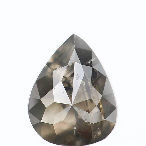 1.80 CT Natural Loose Diamond Pear Black Color I3 Clarity 8.30 MM L8894