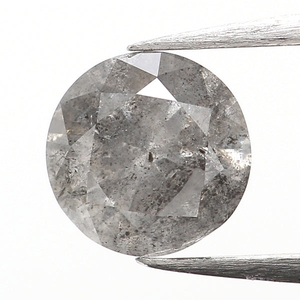 0.45 Ct Natural Loose Diamond, Grey Diamond, Round Diamond, Round Brilliant Cut Diamond, Sparkling Diamond, Rustic Diamond L036